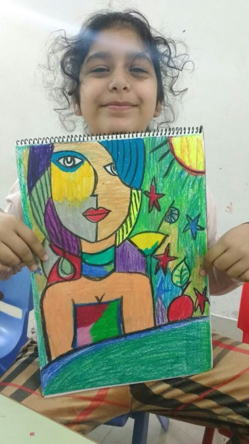 artist _colourful girl